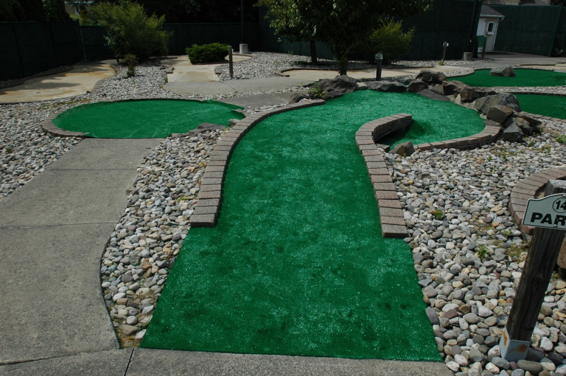 A hole on the mini golf course at Scotch Hills Country Club